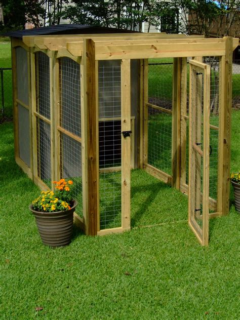 make a dog run in your backyard how to build a dog run with attached doghouse how tos diy