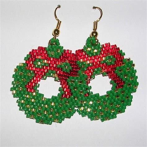christmas earrings adults 104 best wreath ornaments images on crafts ideas and