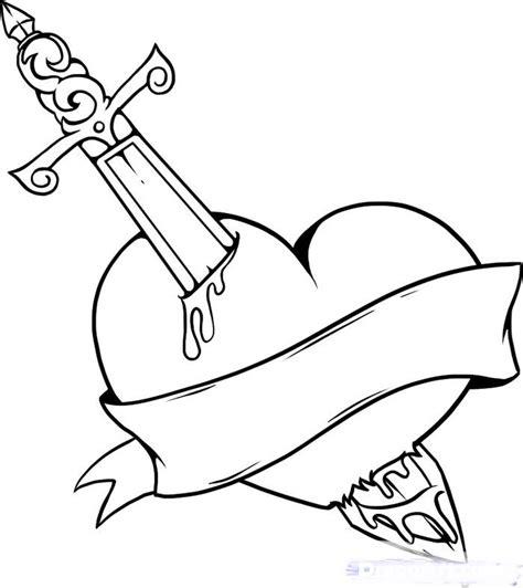 imagenes impresionantes para dibujar impresionantes dibujo de coraz 243 n con espadas para