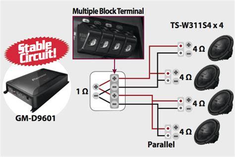 pioneer 2 ohm wiring diagram speakers wiring diagram