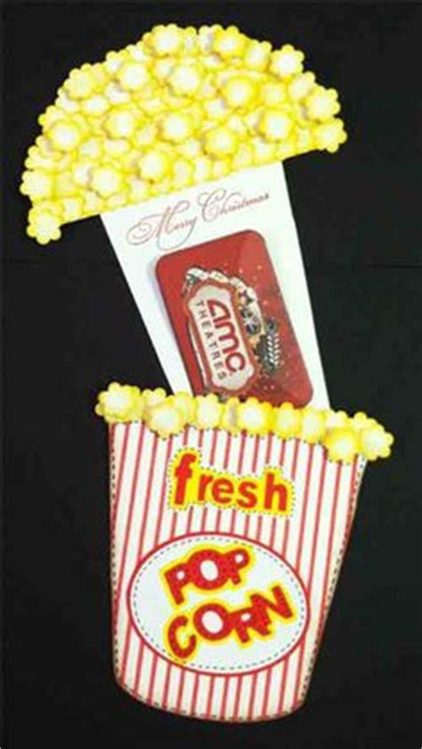 Movie Gift Card Ideas - popcorn gift holder for movie gift card open