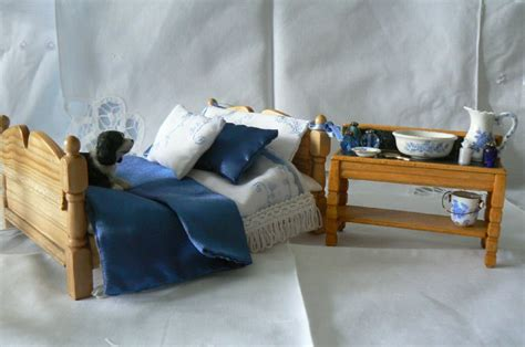 Handmade Pine Beds - handmade pine dressed bed with dressed washstand