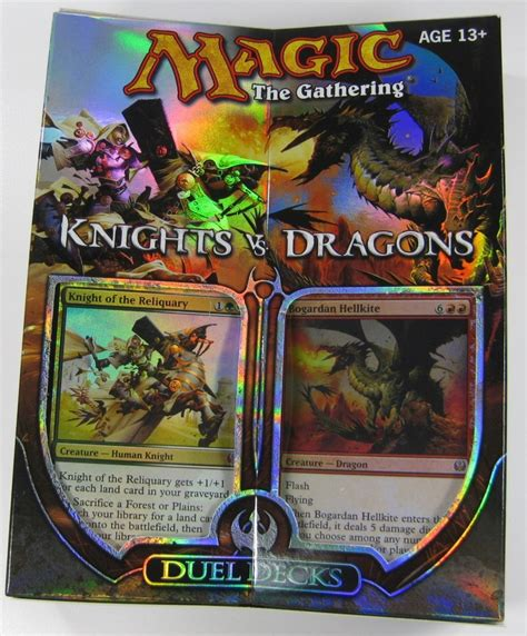 magic deck kaufen mtg magic duel decks knights vs dragons engl ebay