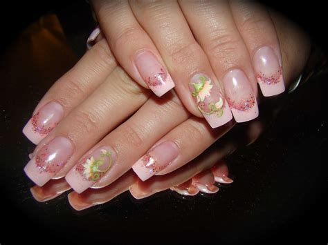 Gel Flower gel with acrylic 3 d flower nail nailic
