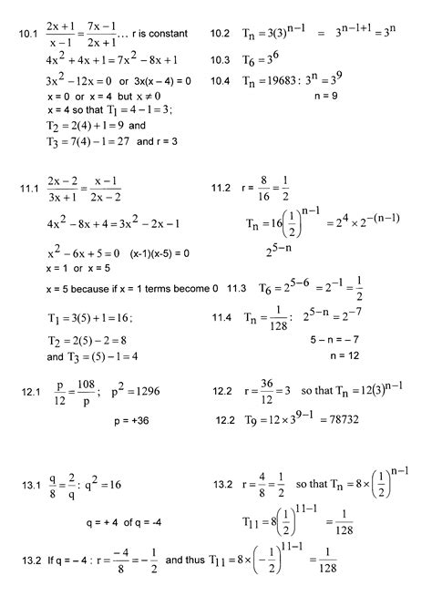 geometric number pattern formula imath grade 12 exercises re exponential number patterns
