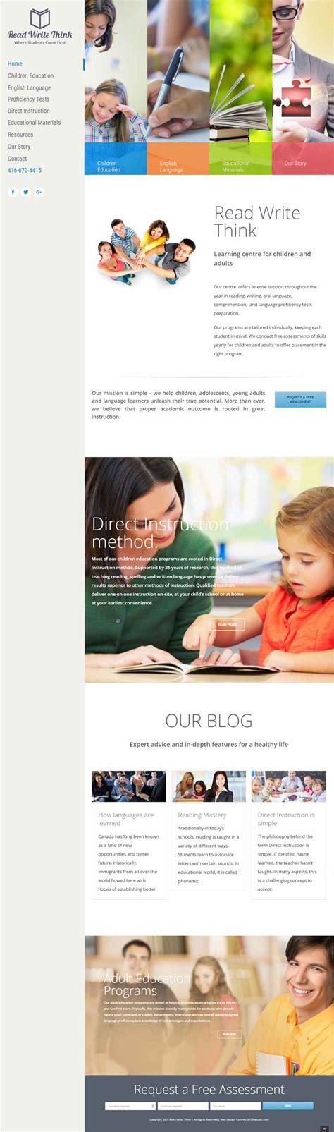 website layout design writing read write think website design toronto seorepublic com