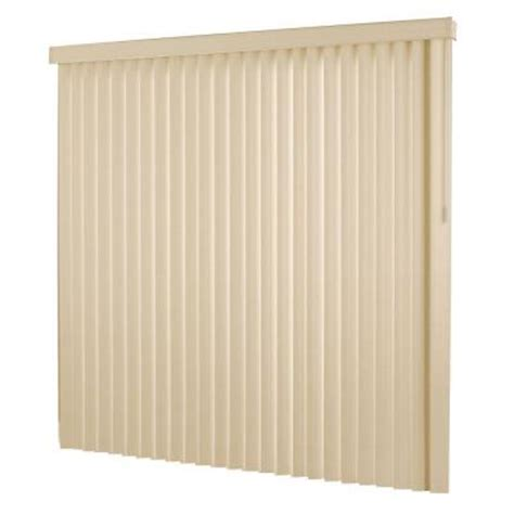 hton bay textured 3 5 in pvc vertical blind