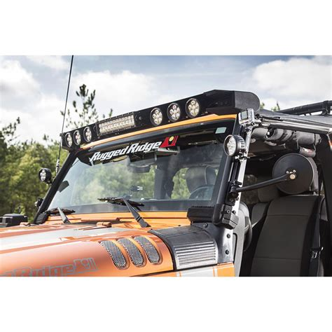 jeep jk 50 light bar jeep jk elite fasttrack windshield light bar 11232 50