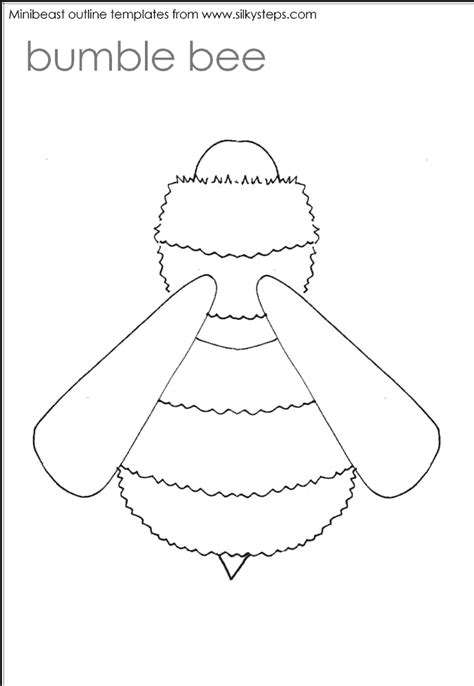 bumble bee template printable bumble bee outline az coloring pages
