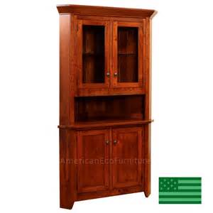 amish solid wood heirloom furniture made in usa freemont corner hutch american eco furniture