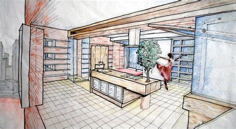 Sketch Interior Design Interior Design Drawing Interiors Design