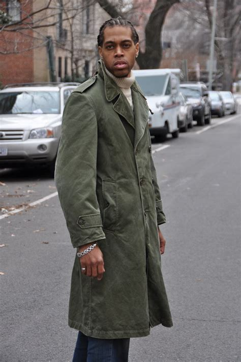 old style man hairstyle vintage military coat street style mens vintage clothing