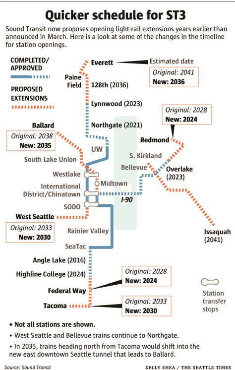 redmond light rail plan light rail stations could open years earlier under new