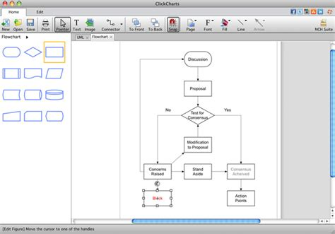 flow chart software free clickcharts mac flowchart software mac