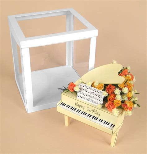 3d box card template a4 card templates for 3d grand piano display box