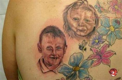 terrorific baby portrait tattoos