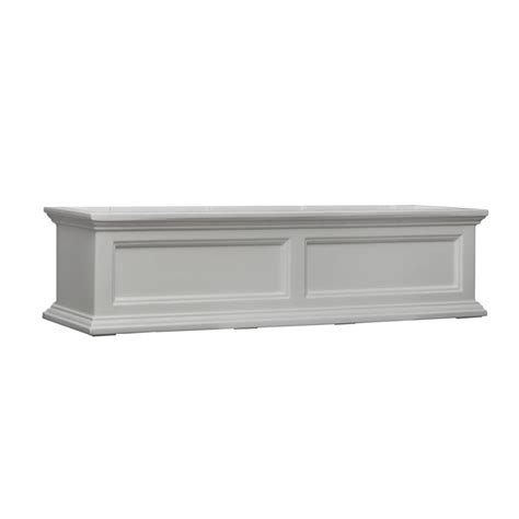 wall mounted window boxes mayne 4 ft fairfield window planter box white with wall