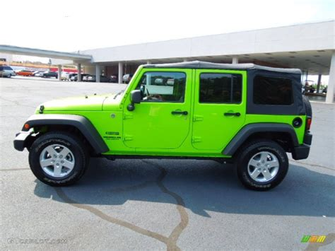 green jeep wrangler unlimited gecko green 2012 jeep wrangler unlimited sport s 4x4