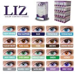 eye colors list liz color contact lenses 20 different colors 1 pair reusable