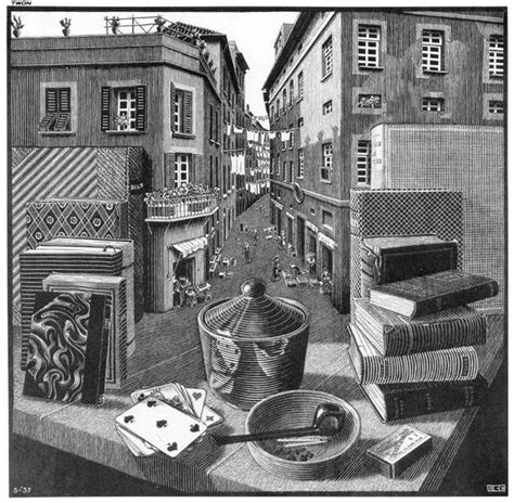 biography of escher the artist still life and street 1937 m c escher wikiart org