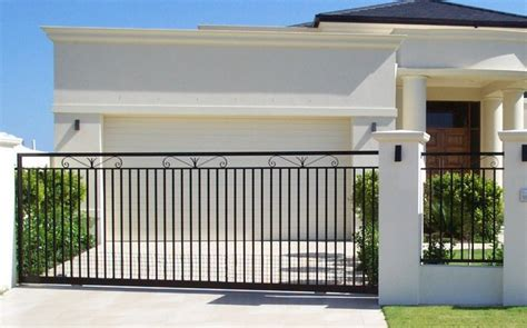 Simple Modern House Design sliding gate a grade aluminium