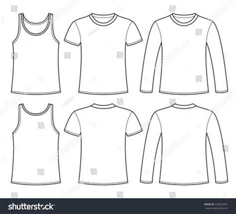 singlet design template singlet tshirt longsleeved tshirt template stock vector
