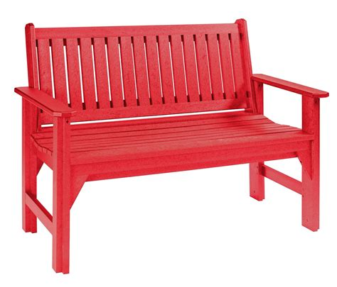 red outdoor bench generations red garden bench from cr plastic b01 01