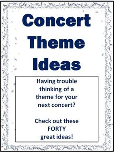 education theme music concert theme ideas 40 great ideas free download