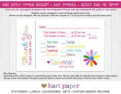 scout cookie sales receipt template 2017 scout cookie thank you order form receipt