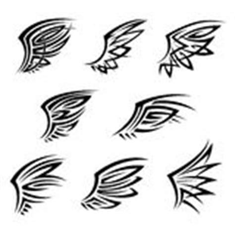 tattoo ali tribali ali tribali di angelo per araldica o progettazione del