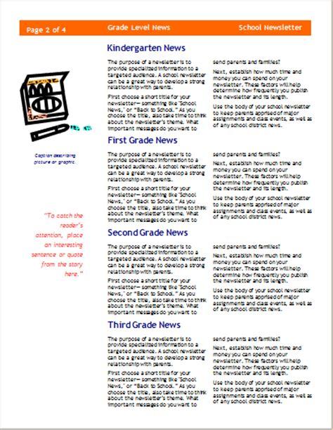 15 Editable Newsletter Templates For Ms Word Document Hub Three Column Newsletter Template