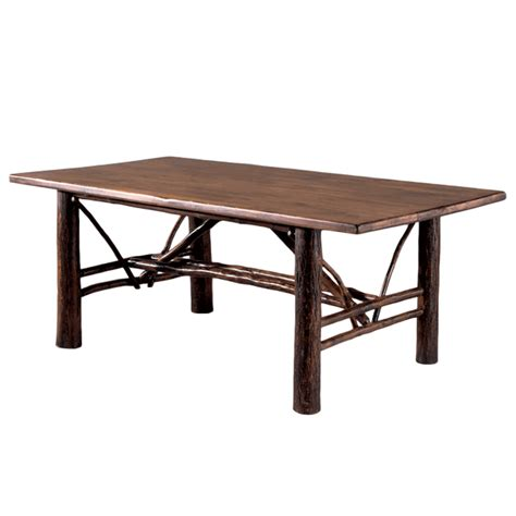hickory dining table black forest hickory rectangular dining table