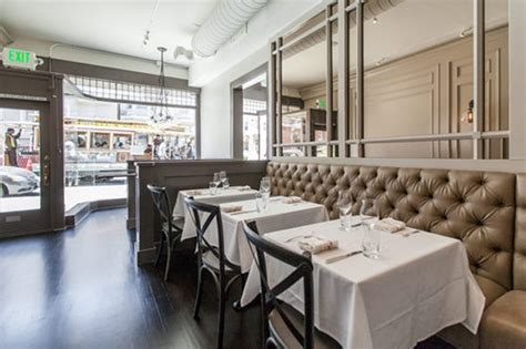 leather banquette seating new neighborhood eatery reclaims classy california charm california home design