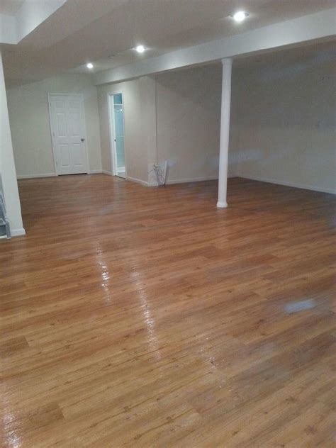 Water Resistant Flooring by Water Resistant Basement Flooring Installation Complete