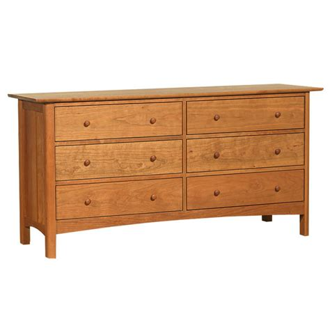 shaker style 6 drawer dresser cherry wood