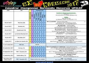 Calendrier Ufolep Information Chionnat Motocross Ufolep Normandie 2017