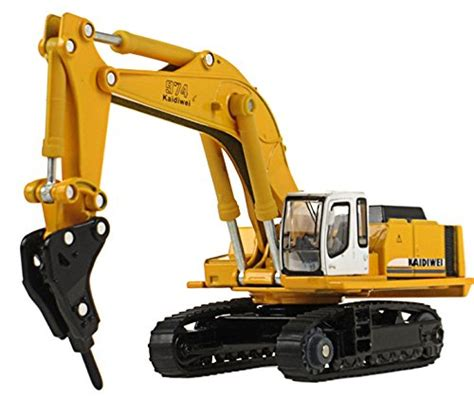 Mini Butterball 1 87 Die Cast Drilling Hammer Crusher Excavator Metal Simulation Car Vehicle