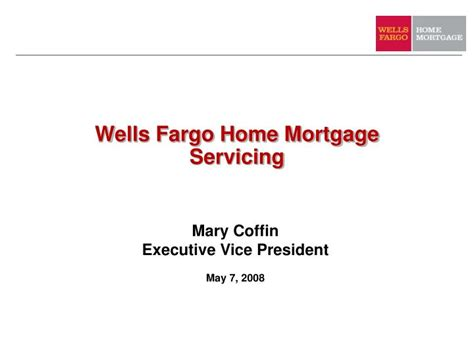 ppt fargo home mortgage servicing powerpoint