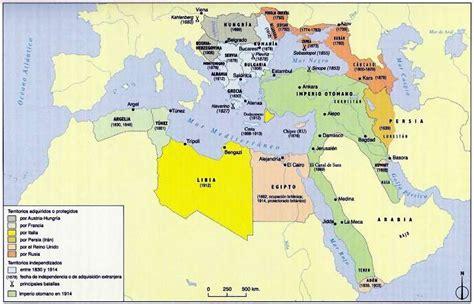 mapa imperio otomano desintegracion imperio otomano post guerra mundial fin