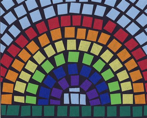 mosaic craft for mosaic rainbow projects for