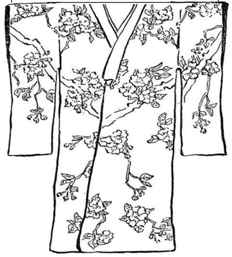 japanese kimono coloring page kmono colouring pages