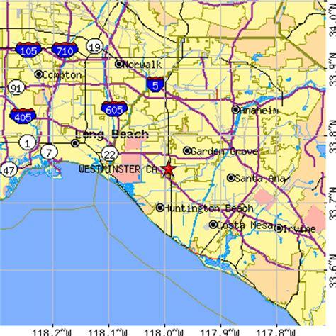 map of westminster california westminster california ca population data races