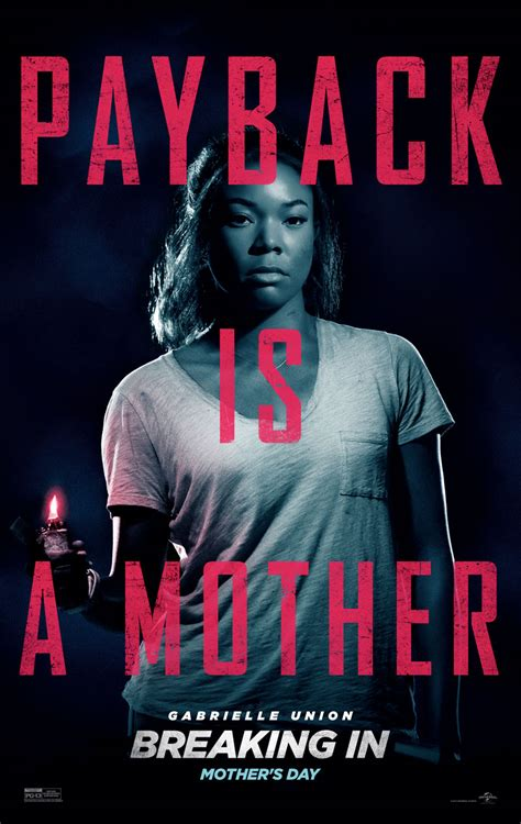 Breaking In Or Breaking Out 2 by Gabrielle Union Debuts Poster For Breaking In