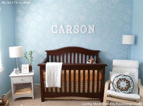 room stencils whoa baby sweet nursery decor stenciling paint pattern