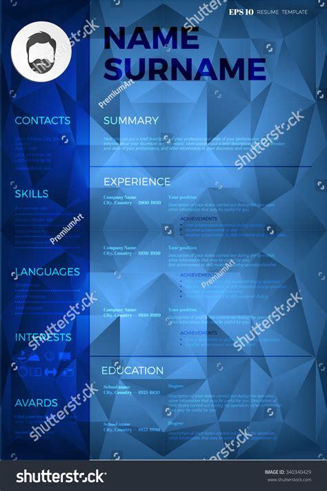 background cv vector cv resume template modern dark curriculum vitae