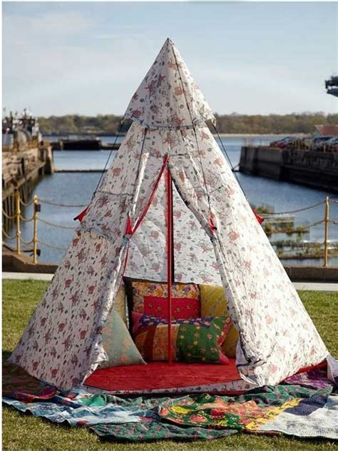 backyard teepee beach umbrella alternative teepee love