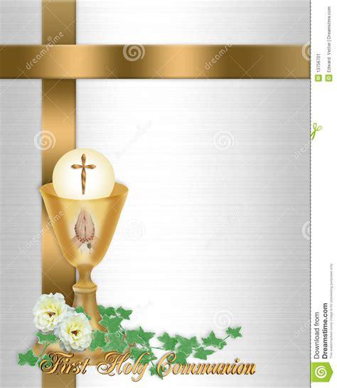 diploma de comunion para imprimir primer fondo de la invitaci 243 n de la comuni 243 n santa stock