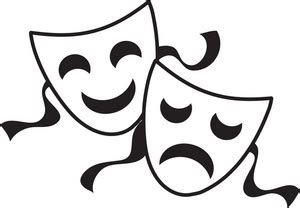 black and white drama black and white photos of drama masks clipart best