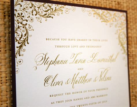 our wedding invitation beautiful gold wedding invitations gold foil wedding