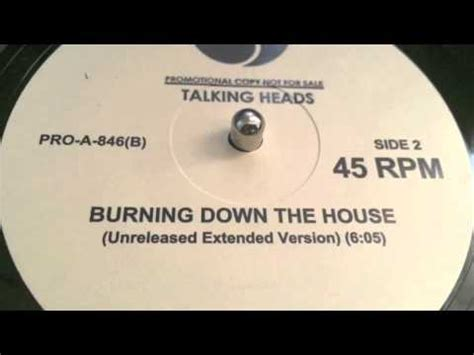 burning down the house talking heads talking heads burning down the house unreleased extended version youtube